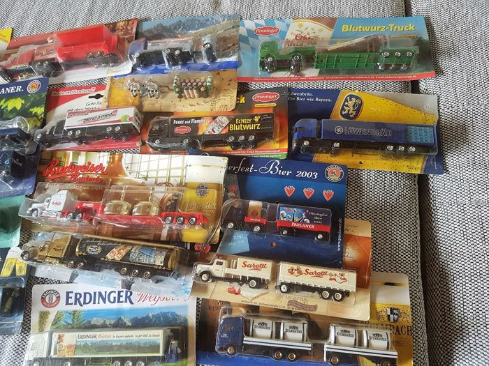 Various - Scale 1/87 - Lot with 103 Models in 3 Boxes - Beverages, Advertising and Food Brands
