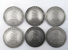 Portugal – Lot of six silver medals – Commemorative – 1990s