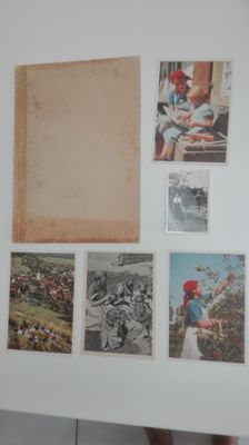 Original lot......... (WJ) Wir Arbeitsmaiden from 1939 + original postcards (4) Weibliche Jugend + photo Deutsche Madel