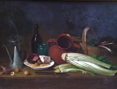 Spanish school (mid-19th century) - Los ingredientes de un estofado