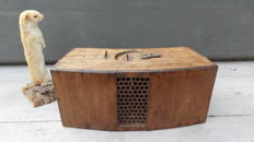 Transport box 19th century Ferret for ferret hunting, rabbits hunting, polecat ferreting feret