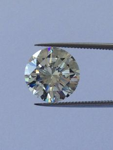 3.25 ct brilliant-cut diamond K-colour, VS1 clarity