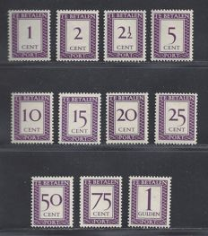 Suriname 1950 – Postage due Number and value in rectangle – NVPH P36/P46