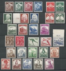 German Reich 1935 – Selection – Michel 465/468, 571/572, 573/575, 580/583, 586/587, 588/597, 598/599