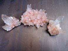 Natural Orange Quartz Crystal Clusters - 7,5 to 15cm - 1840gm (3)