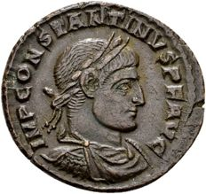 Roman Empire – Constantine the Great, 307–337, AE Follis, struck in Arelate in 318 A.D.