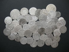 Poland - Lot of various coins, 16th and 17th century (51 coins) - silver