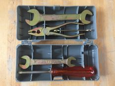 Original tool kit for a classic Fiat OM truck
