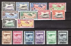 Spain 1926/1929 – Pro Spanish Red Cross and Expo in Seville and Barcelona – Edifil No. 339/348, 448/453.