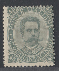 Italy Kingdom 1889 - 45c. olive green Sassone 46
