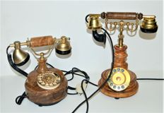 Two Italian design telephones