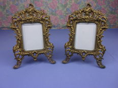 2 bronze photo frames in Lous xv style