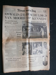 Lot with 8 newspapers about the murder of John F. Kennedy