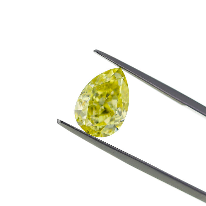 6.07 Ct. Natural Fancy Yellow SI1 Cushion Diamond, GIA Certified