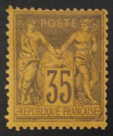 France 1878 – Sage, type II, 35 c. black-purple – Yvert #93