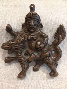 The god of wealth on the dragon - China - 19th century