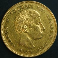 Portugal – 5.000 Réis in GOLD – 1860 – D. Pedro V – Lisbon