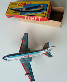 "An., Japan - Length 18 cm - Tin ""BOAC De Havilland Comet"" with friction motor, 1950s"