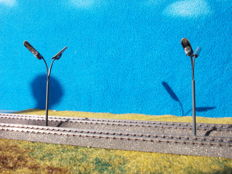 Plasticart H0 - 24 metal double railway lanterns 110 mm