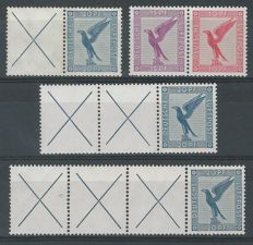 German Reich 1930/1931 - Selection of combinations – Michel W21.1, W21.2, W22, W22.3