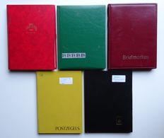 Germany 1870/1950 - Batch in 5 stock books