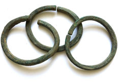 Three Bronze Age Bracelets - 72-80 mm (3)
