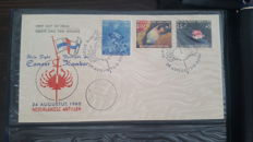 Aruba, Netherlands Antilles and Suriname – Collection of First Day Covers in five albums.