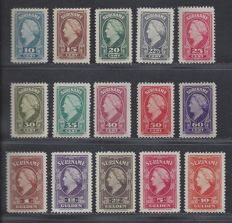 Suriname 1945 - Queen Wilhelmina - NVPH 229/238 and 239/243