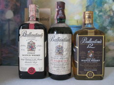3 bottles - Ballantine's 17 years old 75 cl – Ballantines Finest 75 cl – Ballantines 12 years old 75 cl