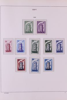 Europa Stamps 1956/1965 - Complete collection on Schaubek preprint sheets