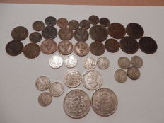 Sweden lot of 39 coins - 1876/1907 - silver and copper