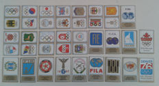Panini - Munich 72 Olympics - Complete set of shields and coats of arms - 26 stickers.