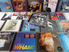 Classic Rock and Pop – Lot of 36 CD's or double CD's with Rolling Stones (2x), Eric Clapton, Guns n' Roses (2x), Dire Straits, Simply Red, Janis Joplin and many others.