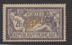 France 1900 – Merson 2 fr. purple yellow, signed Calves and Roumet and with Calves certificate – Yvert n°122