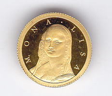 "Congo – 10 Francs 2006 ""Mona Lisa"" – 0.5 g of gold"