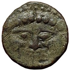 Greek Antiquity - Italy, Sicily, Himera - Æ Hemilitron (25mm; 20,75g.), c. 430 BC - Gorgoneion / Six pellets - SNG Cop. 313