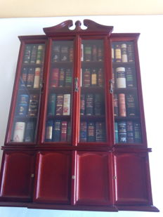Miniature bookcase with 72 classic books - 2002