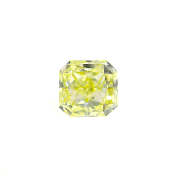 1.52 Ct. Natural Fancy Light Yellow VVS2 Cut Cornered Rectangular Diamond, GIA Certified