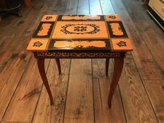 Italian Table de Marquetry, 1960's