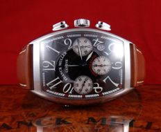 FRANCK MULLER Cintree Curvex Chronograph, ref. 7880 CC AT – Gentlemen's watch– 2005