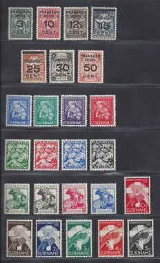 Surinam, 1928-1933, five different complete emission