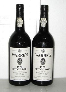 1977 Vintage Port Warre's – Bottled in 1979 – Lot of 2 bottles