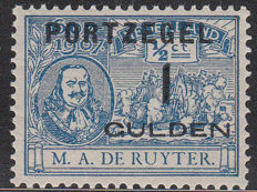 The Netherlands 1907 – Postage due De Ruyter – NVPH P43, with inspection certificate