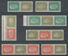 German Reich 1932 - Selection of combinations - Michel S42/S44, S46/S49