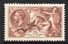 Great Britain King George V 1934 - 2/6d Re-Engraved Seahorse, Stanley Gibbons 450