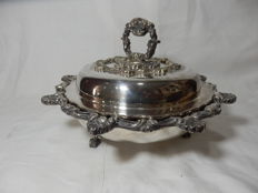 A Antique Covered Serving Dish Silver Plate, 1940´s,England