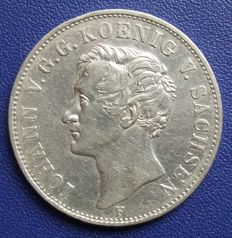 Old Germany, Saxony – Taler 1854 – silver