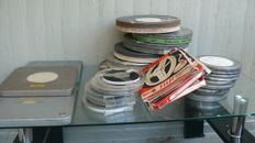 Aluminium film cans and super 8 films