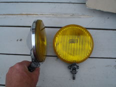 Two BOSCH FOG LIGHTS with a diameter of 160 mm from the 1970s and 1980s
