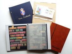 New Zealand – Collection of stamps between around 1870 and late 1990s, in Davo and 9 stock books.